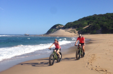 Cycle on the beach with our specialised bikes
